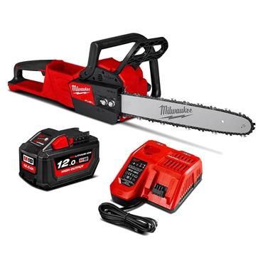 Milwaukee M18FCHSC-121B 18v FUEL Brushless Compact Chainsaw 30cm, 1x12Ah Battery, Charger