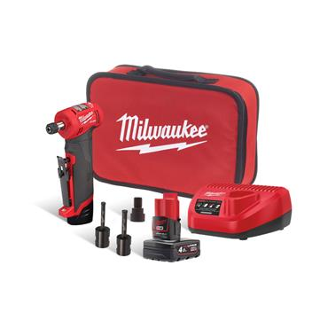 Milwaukee M12FDGA-422B 12v Angled Die Grinder, 1x2Ah 1x 4Ah Batteries, Charger, Tool-Bag