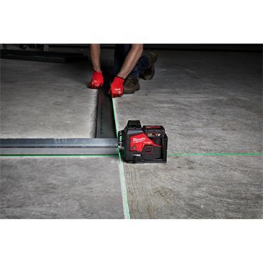 M123PL-401C M12 3Plane Laser, 1x 4.0Ah battery, Charger, Kit-Box