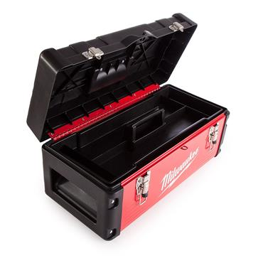 Milwaukee Heavy Duty Red Metal Toolbox 480 x 220 x 230mm