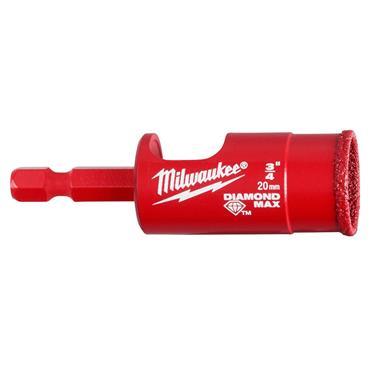 Milwaukee 20mm Diamond Plus Wet / Dry Hole Saw Bit