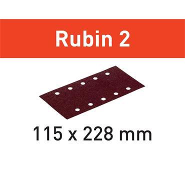 Festool Abrasive sheet for Wood 115X228-(P40-P220) RU2/50 Rubin 2