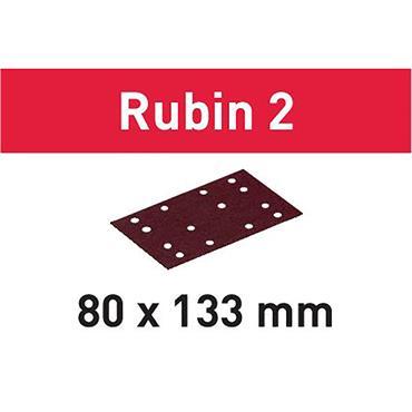 Festool Abrasive sheet for Wood STF 80X133 - (P40-P220) RU2/50 Rubin 2