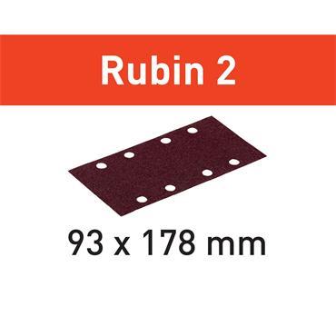 Festool Abrasive sheet for Wood 93X178/8 - (P40-P220) RU2/50 Rubin 2