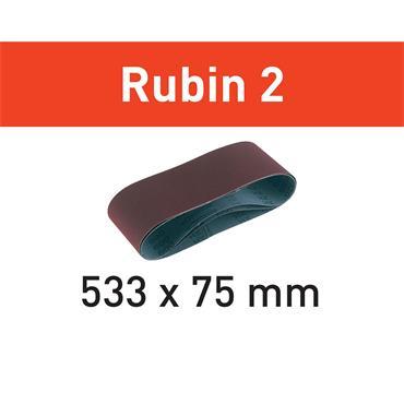 Festool Abrasive belt for Wood L533X75-(P40-P150) RU2/10 Rubin 2