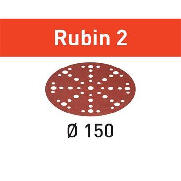 Festool Abrasive sheet STF D150/48 (P40-P220) RU2/50 Rubin 2