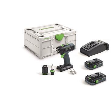 Festool Cordless drill T 18+3 HPC 4,0 I-Plus