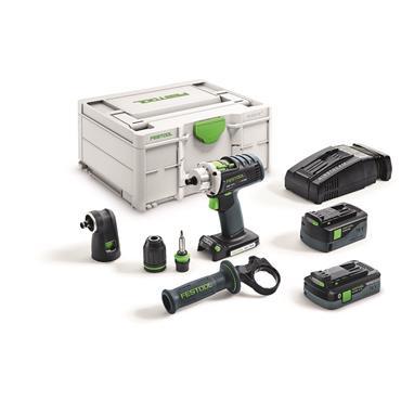 Festool Cordless drill DRC 18/4 5,2/4,0 I-Set-SCA QUADRIVE