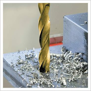 Terrax by Ruko A250214TRO Twist Drill Bit Set DIN 338 Type N HSS-G TiN in Plastic Case