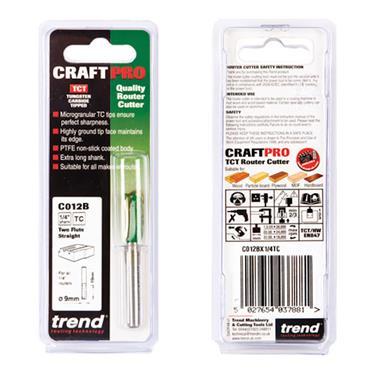 Trend Two Flute Cutter 9mm diameter - C012BX1/4TC