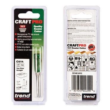 Trend Two Flute Cutter 9.5mm diameter - C014X1/4TC
