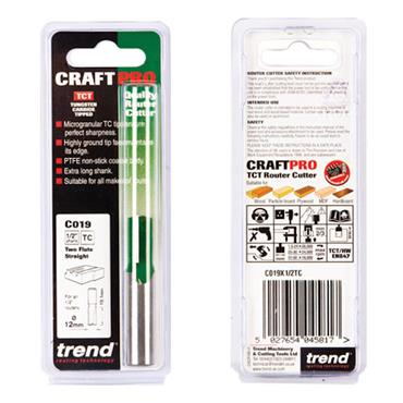 Trend Two Flute Cutter 12mm diameter - C019X1/2TC