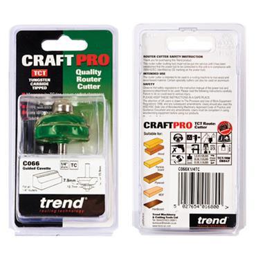 Trend Cavetto 7.9mm radius  - C066X1/4TC