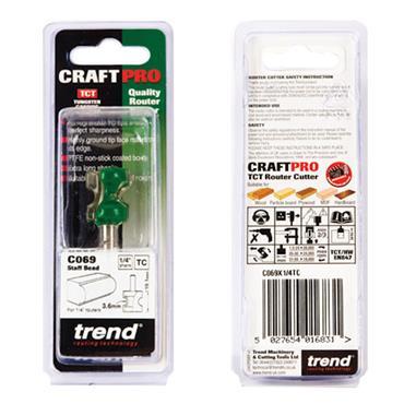 Trend Staff bead 3.6mm radius - C069X1/4TC
