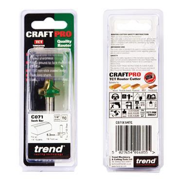 Trend Sash bar 6.3mm radius x 19.1mm cut  - C071X1/4TC