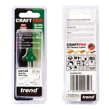 Trend Sash bar ovolo joint cutter 10mm radius - C073AX1/4TC