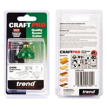 Trend Classic ogee 4mm radius - C090X1/4TC