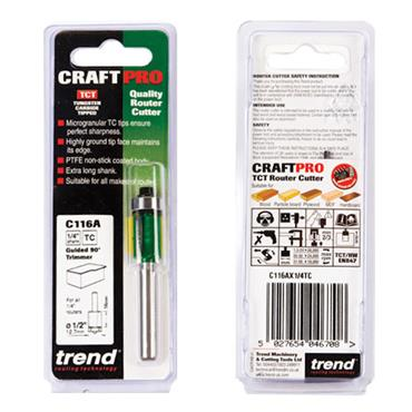 Trend Self guided trimmer 12.7mm diameter  - C116AX1/4TC
