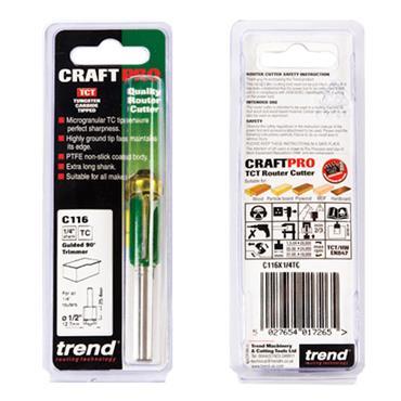 Trend Self guided trimmer 12.7mm diameter  - C116X1/4TC