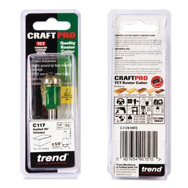 Trend Guided trimmer 15.9mm diameter  - C117X1/4TC