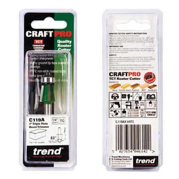 Trend Self guided bevel trim angle=83 degrees  - C119AX1/4TC
