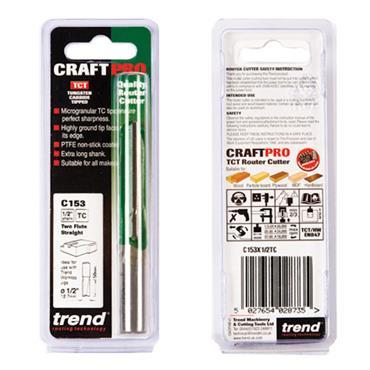 Trend Two flute cutter 12.7mm diameter - C153X1/2TC