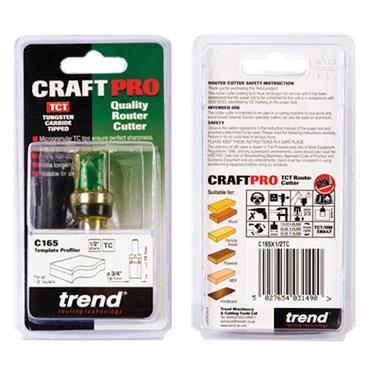 Trend Profiler 19.1mm diameter X19.1mm cut - C165X1/2TC
