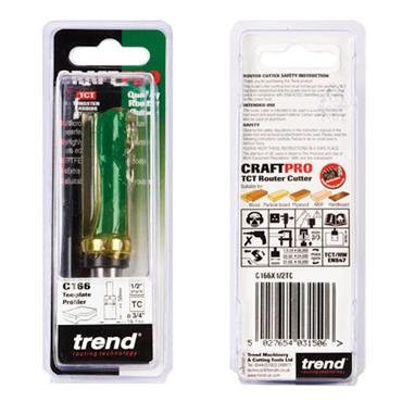 Trend Profiler 19.1mm diameter x 50mm cut  - C166X1/2TC