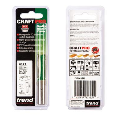 Trend Two flute cutter 12mm diameter - C171X1/2TC