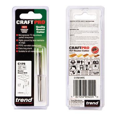 Trend Dowel drill 6mm x 35mm cut  - C175X1/4TC