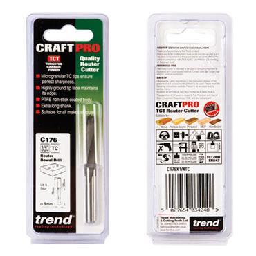 Trend Dowel drill 8mm x 35mm cut  - C176X1/4TC