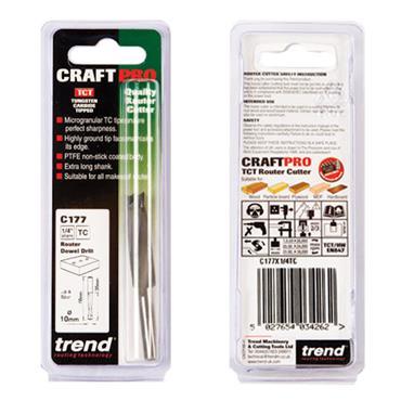 Trend Dowel drill 10mm diameter x 35mm - C177X1/4TC