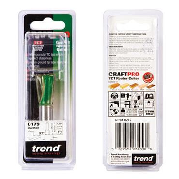 Trend Dovetail 19.1mm x 97 degrees x 25mm cut  - C179X1/2TC