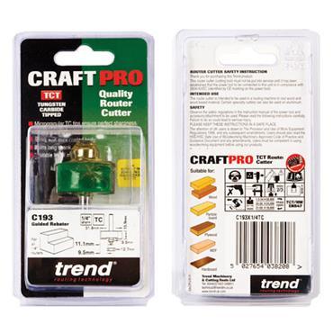 Trend Bearing guided rebater 31.8mm diameter x 15.9mm - C193X1/4TC