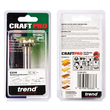 Trend Weatherseal groover 2mm x 7mm - C210X1/2TC