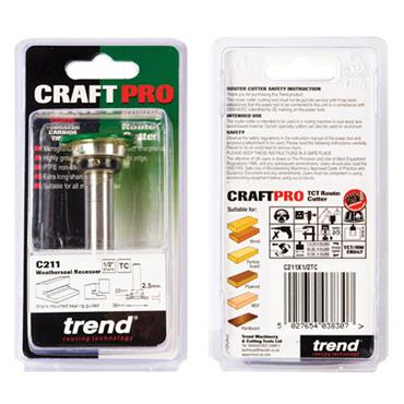 Trend Weatherseal groover 2.5mm x 7mm - C211X1/2TC