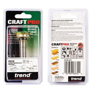 Trend Weatherseal groover 3mm x 7mm - C213X1/2TC
