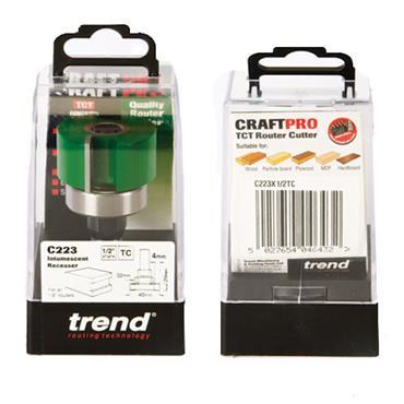Trend Intumescent cutter set 20mm x 40mm  - C223X1/2TC