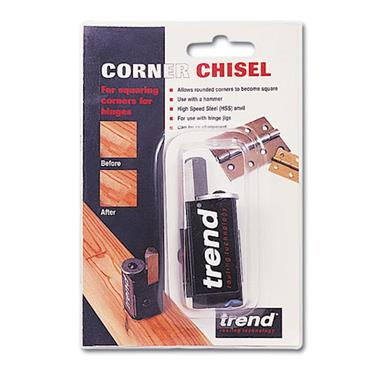 Trend Corner Chisel-To quickly square up rounded corners when using lock and hinge jigs. - C/CHISEL