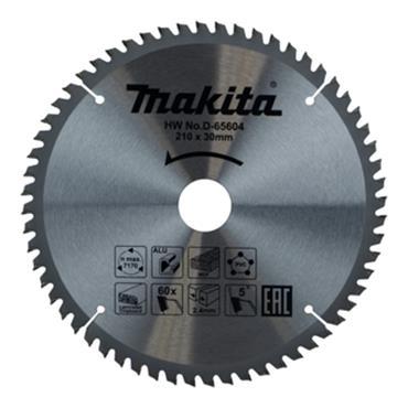 Makita D-65604 TCT Multi Purpose Saw Blade 210mm x 30mm 60T