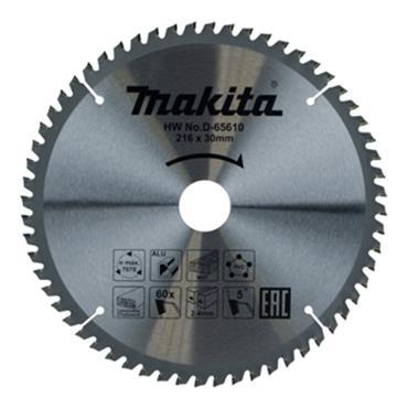 Makita D-65610 TCT Multi Purpose Saw Blade 216mm x 30mm 60T