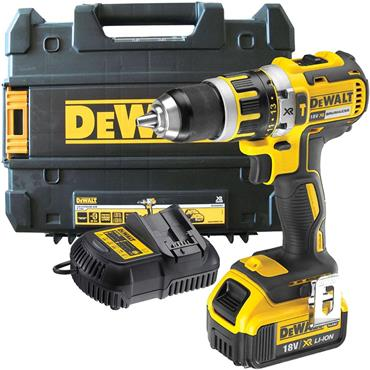 DeWalt DCD795M1 18v XR Brushless Combi Drill, 1x 4Ah Battery, Charger, Kit-Box