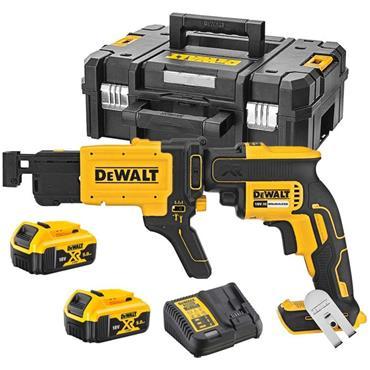 DeWalt DCF620P2K 18v Brushless Collated Screwdriver, 2x 5Ah Batteries, Charger, Kit-Box