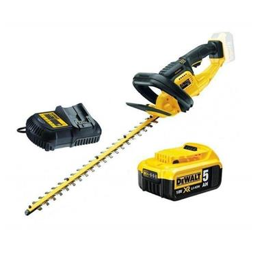 DeWalt DCMHT563P1 18v XR55CM Cordless Hedge Trimmer, 1x 5Ah Battery, Charger