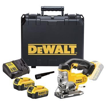 DeWalt DCS331M2 18v Top Handle Jigsaw, 2x 4Ah Batteries, Charger, Kit-Box