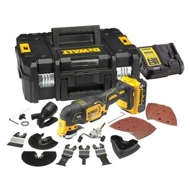 DeWalt DCS355P1 18v Brushless Multitool 1x 5Ah Battery, Charger, 35 Piece Accessories, Carry Case