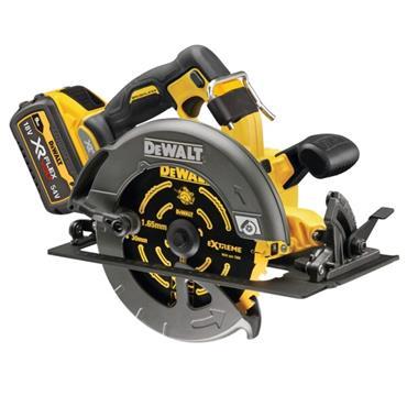 DeWalt DCS578X2-GB 54v XR FLEXVOLT 190mm Circular Saw, 2x DCB547 Batteries, Charger, Kit-Box