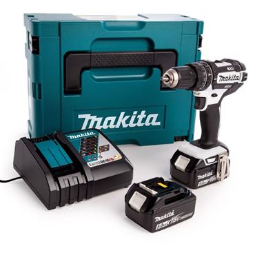 Makita DHP482RTWJ_2, 18v Combi Drill, 2x 5Ah Batteries, Charger, Kit-Box