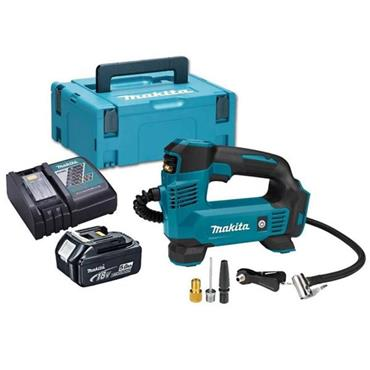 Makita DMP180RT1J 18V LXT Inflator, 1 x5Ah Batterie, Charger, Kit-Box