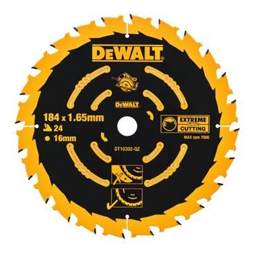 DeWalt EXTREME 2ND FIX CIRCULAR SAW BLADE 184MM 16MM BORE 24T
